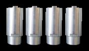 Opnameverhogingen 100 mm (4 stuks)